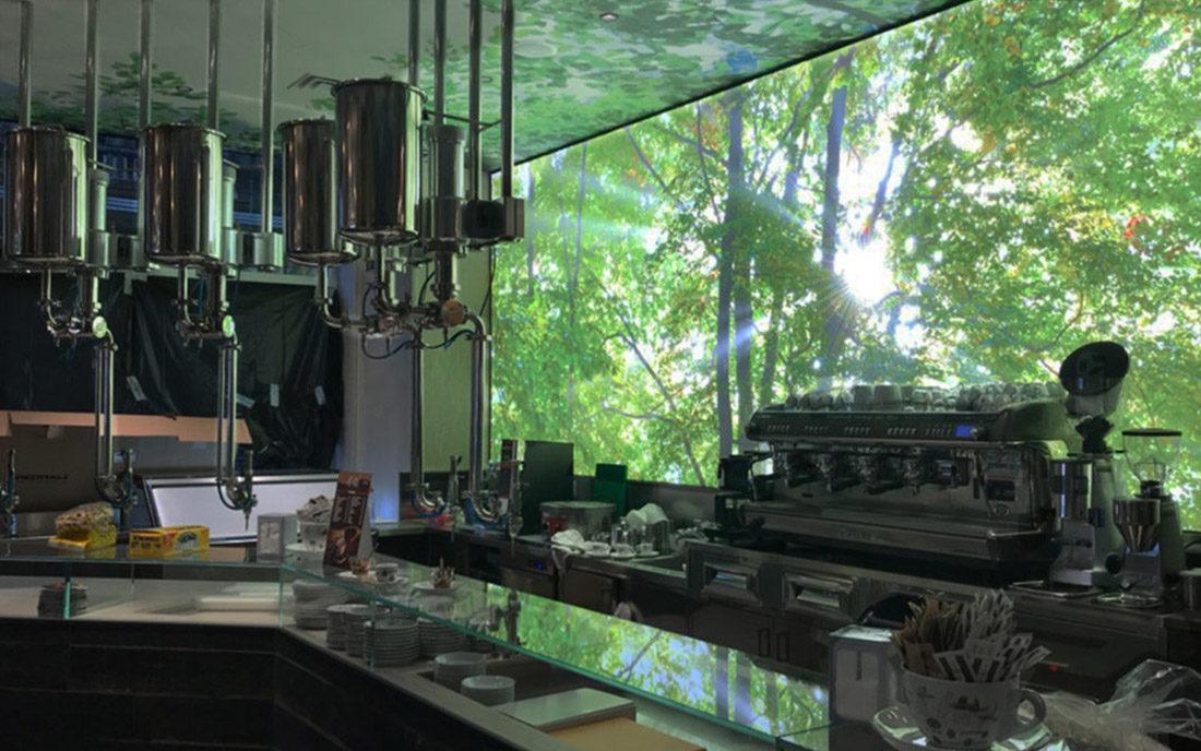 Bancone bar della caffetteria di Milano Nui City jungle cafè